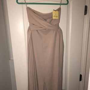 Party Dress - Beige with bow in the back
